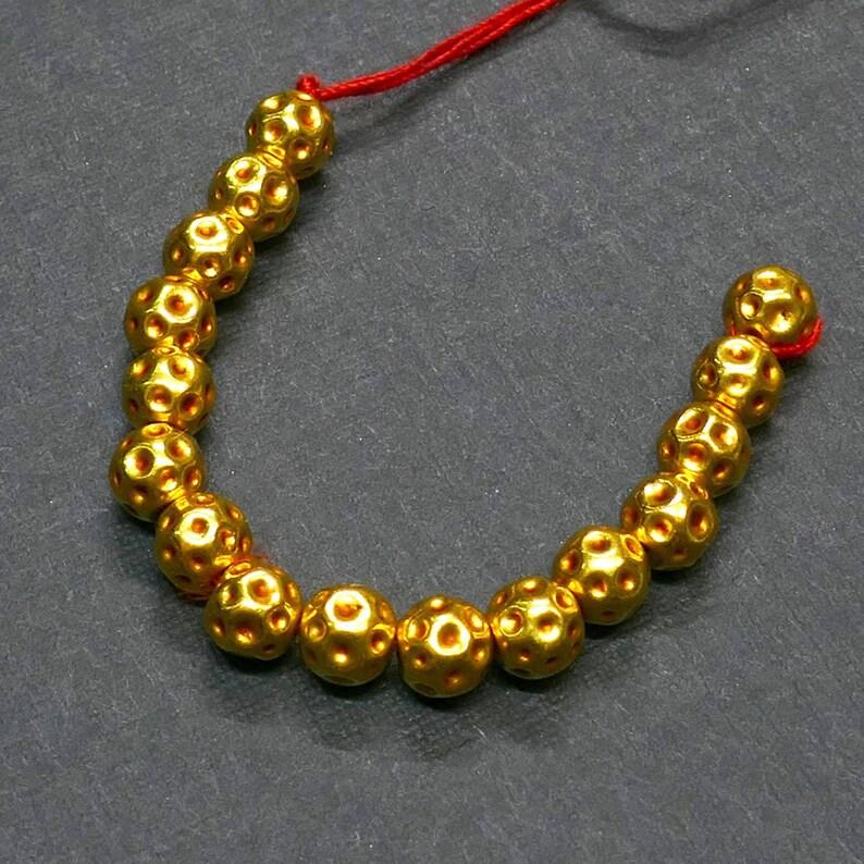 Gorgeous 18K Yellow Gold 7mm Fancy Bead.