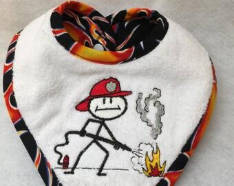 Fireman Drool Bib