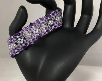 Purple Paradise Bead woven Bracelet