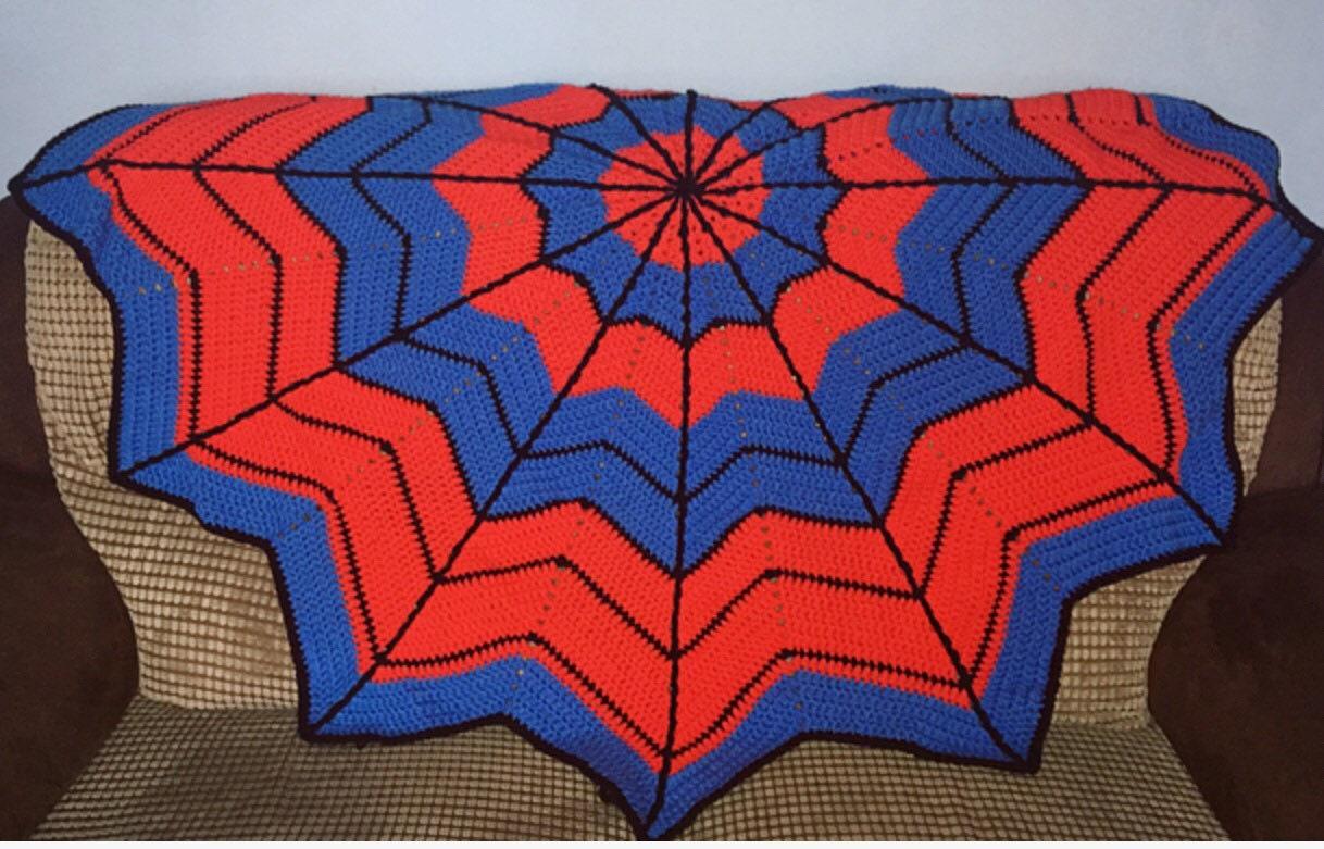Superheld Decke handgemachte afghanische Spiderman | Etsy