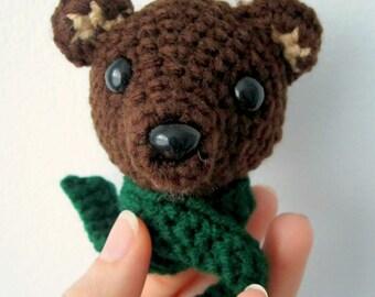 PATTERN Brown Bear Amigurumi Ornament - Babysafe, Unbreakable - Instant Download by lostsentiments