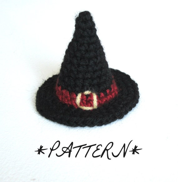 Pattern Tiny Witch Hat Crocheted In Amigurumi Instant Etsy