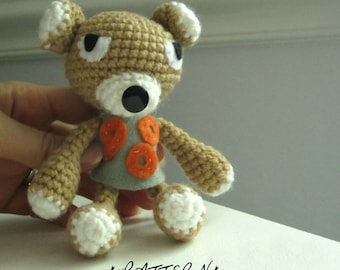 PATTERN for U900 Ukulele Duo - Kumano 900 Bear - Amigurumi Plush Toy - Instant Download by lostsentiments