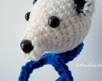 PATTERN Polar Bear Amigurumi Ornament - Babysafe, Unbreakable - Instant Download by lostsentiments