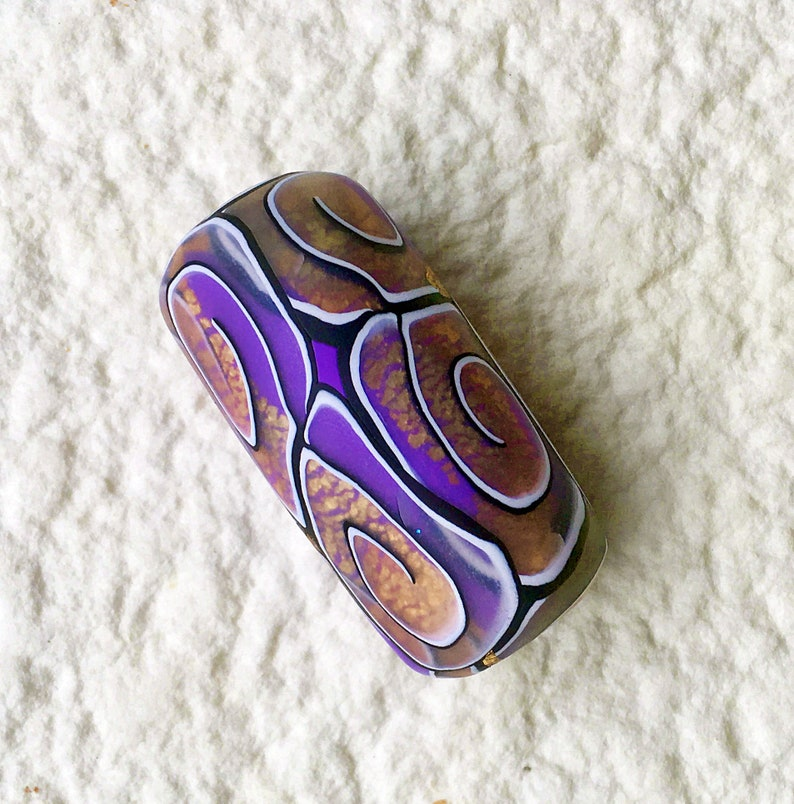 Purple /& Silver Polymer Clay Ring size 12