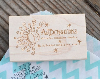 Custom Logo Stamp - Custom Stamp - Customized Stamp - Personalized Rubber Stamp