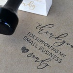 Thank You for Supporting Small Business Stamp - Custom Stamp - Shop Small Stamp