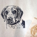 Dog Portrait Rubber Stamp, Face Stamp, Custom Pet Face, Personalized, Gift Idea, Animal Lover, Souvenir Gift