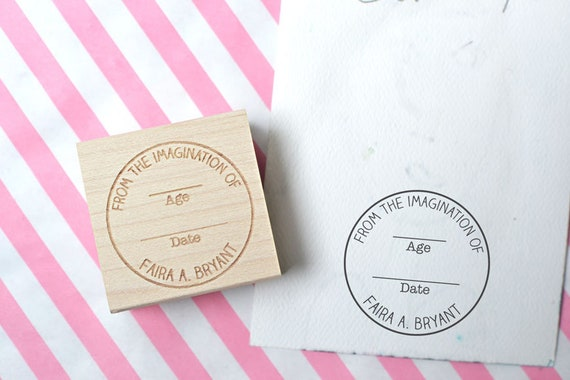 Custom Round Rubber Stamp From The Imagination Of