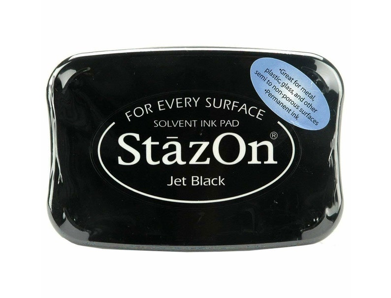 StazOn Jet Black Solvent Ink Pad  Archival Ink image 0