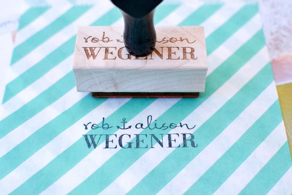 Customized Personalized Name Anchor Rubber Stamp with Wood Handle