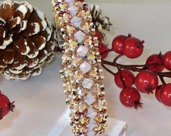 Opal Crystal Beadwoven Bracelet
