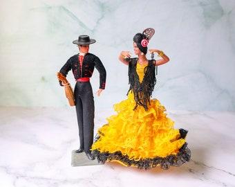 Vintage Souvenir Dolls | Spain Spanish Souvenirs | Matador and Flamenco Dancer Set