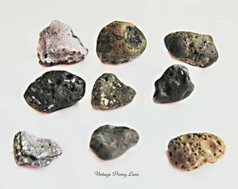 Volcanic Stones / Lava Rocks, Pebbles, Slag Glass Lake Ontario
