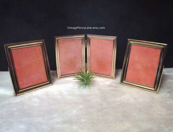 Vintage Brass Picture Frames One Folding 4 12 X 3 12 4 Etsy