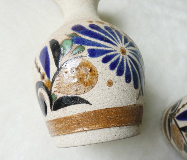 Boho  Bohemian Decor Set of Mexican Pottery Vase with Sandstone Finish