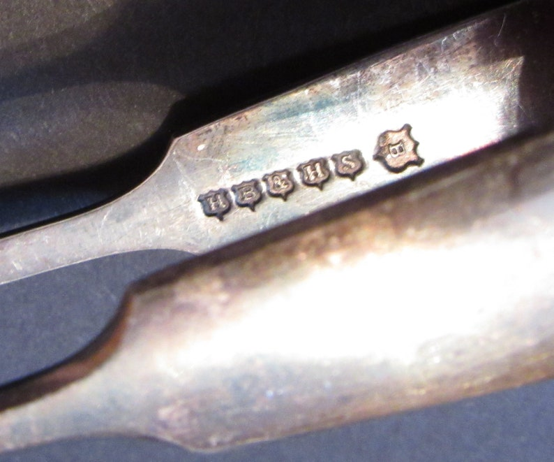 Shabby Vintage Silver Plated Utensils Pate Knife Knives Tongs