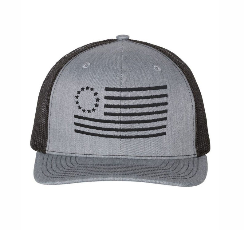 Betsy Ross American Flag Trucker Hat