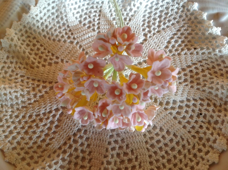 Vintage Style Millinery Flowers Forget Me Nots Pink