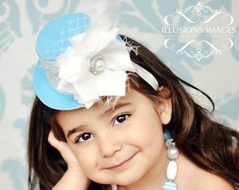 Mini Top Hat Headband, Birthday Headband, Smash Cake Hat, Baby Girl Bows And Headbands, Hair Accessories