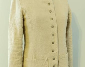 Hemp Linen Natural Military Blazer