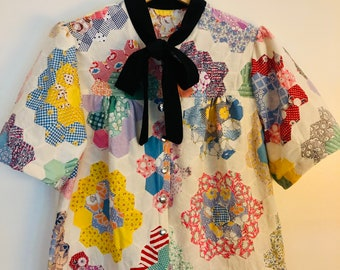 Pretty Birdie's Vintage Quilt Top Blouse #1