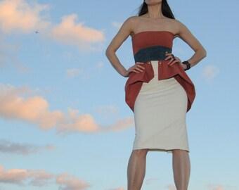 Pretty Birdie's Hemp Strech Ruffle Dress