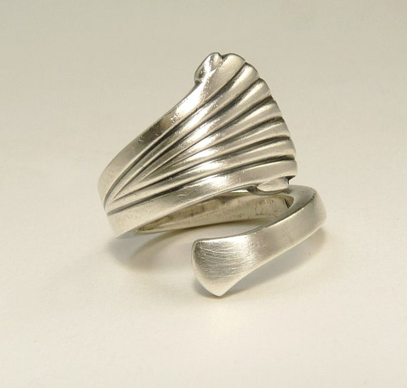 1970s Tuttle Sterling Silver Spoon Ring