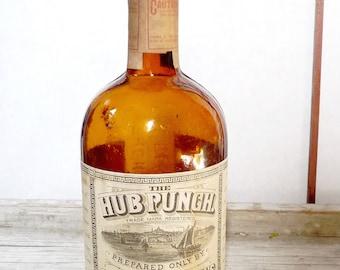 CH Graves & Son Antique Bottle The Hub Punch Boston Mass