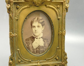 Antique Gesso Frame 4x5 Victorian Oval Image