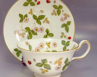 Wedgwood Wild Strawberry Teacup & Saucer
