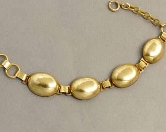 Antique 12K Gold Filled Dome Link Bracelet