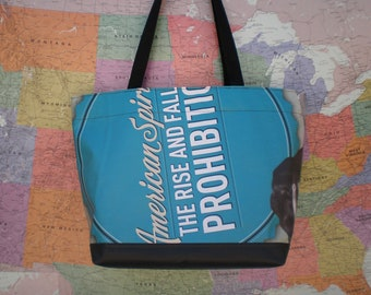 Tote bag from a MN History Center banner, The Rise and Fall of Prohibition