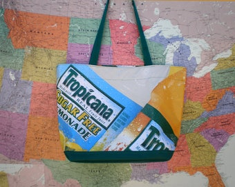 Tote bag made from a Tropicana Banner