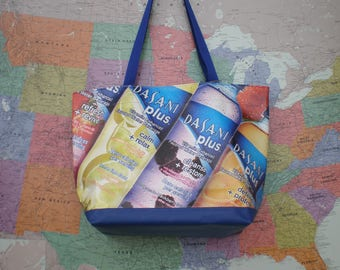 Tote bag made from a Dasani Plus Banner
