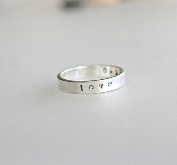 Personalized Ring Custom Coordinates Name Inside And Etsy