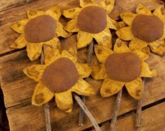Primitive Sunflowers