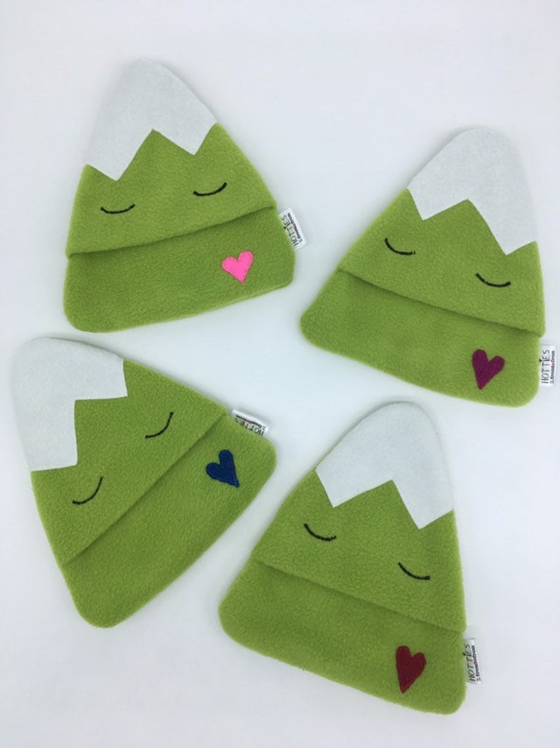Green Mountain Mini Hottie Hot Water Bottle Cozy Cover Hand image 0