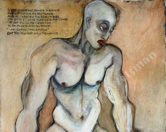 Erotic Art Print, Boxer - The Fighter Still Remains