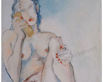 NEW!! I'm On the Phone - female nude