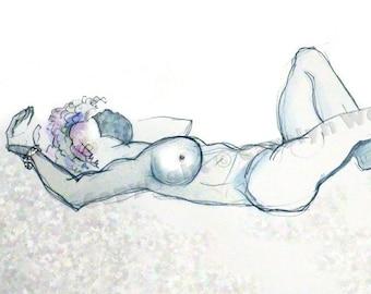 NEW!! Bashira Blue - female nude