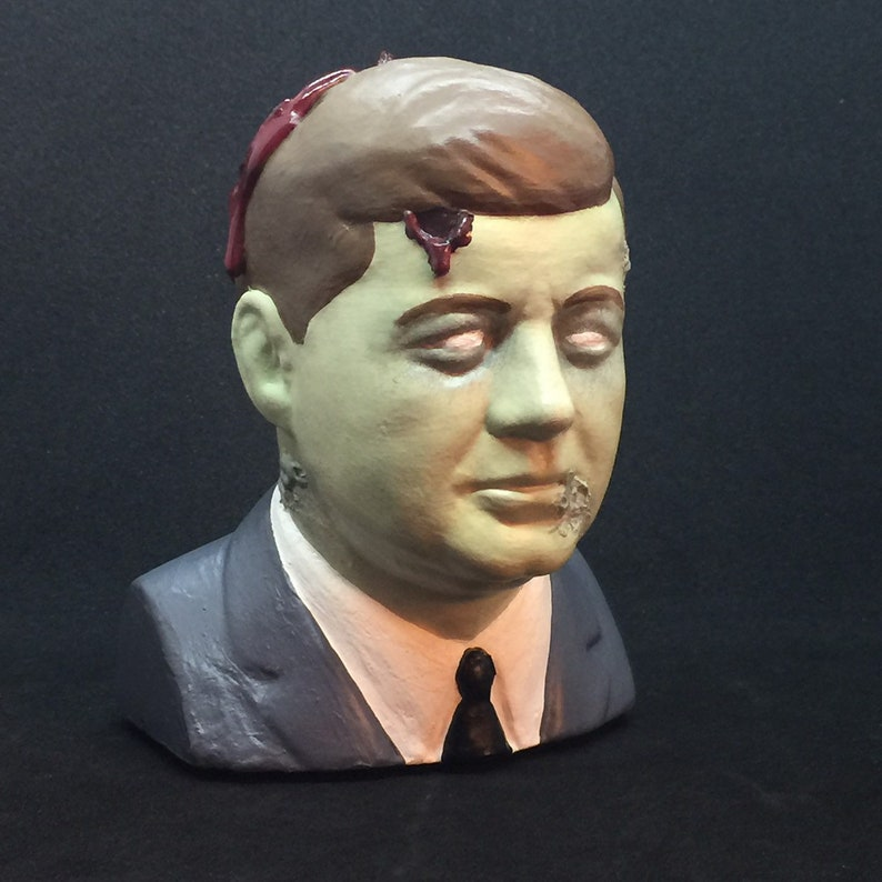 Gruesome JFK Assassination Zombie Bust with Entry & Exit image 0