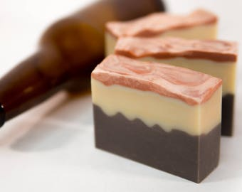 Black and Tan | Beer Soap | Made with Guinness and Molson Beer | Bonfire Bliss Soap | Gifts for Men | Fatty's Soap Co.