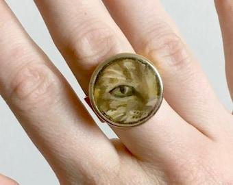 Custom Painted Pet Eye Ring