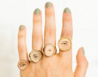 Custom Lover's Eye Ring | Hand-painted