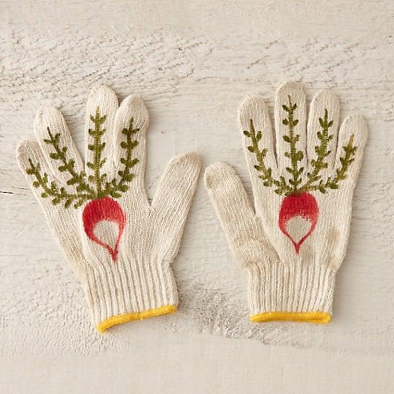 Radish Gardening Gloves image 0