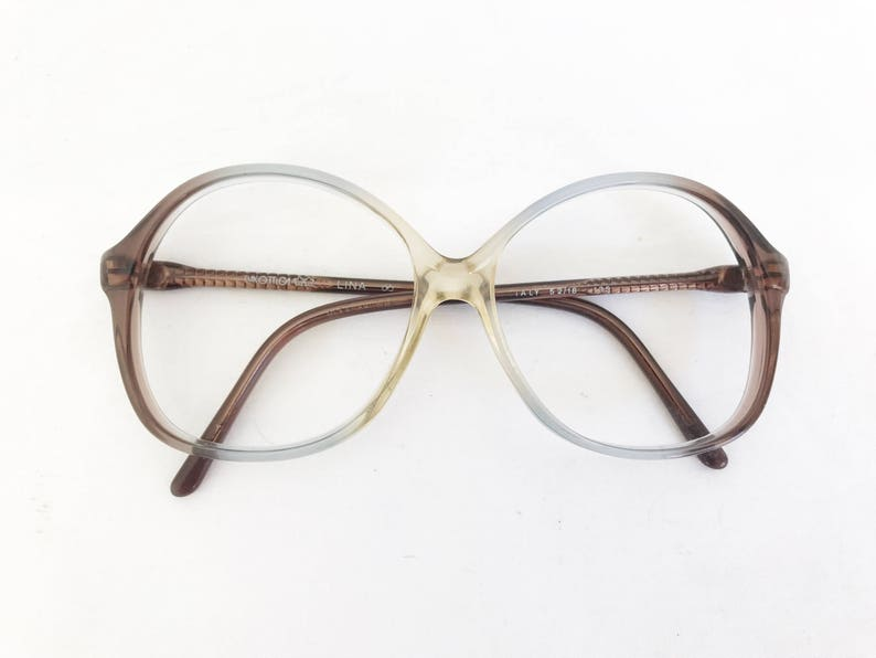 4a8911f22d1 Vintage 80 s Italian Ombre Oversized Frames