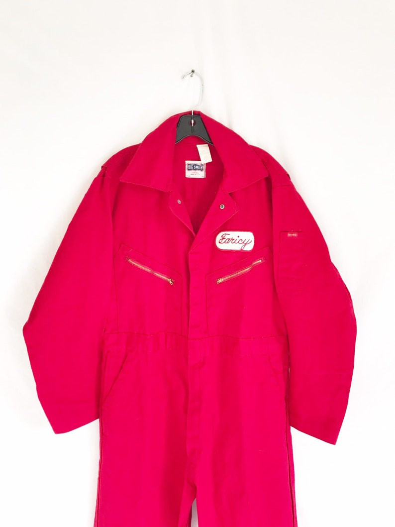 Size 44 Vintage 70/'s Big Smith Red Utility Work Coveralls