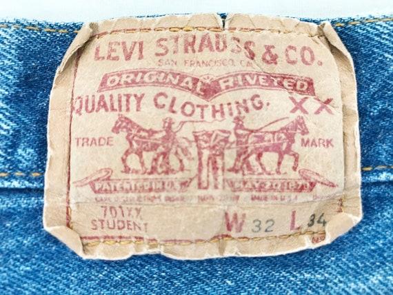 Vintage LEVIS 701 Student Fit Jeans. Tag 32 x 34.… - image 8