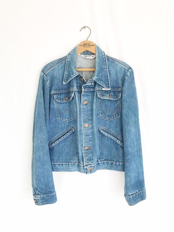 Vintage 70's WRANGLER Denim Trucker Denim Jacket.